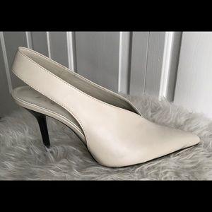 NWOT Zara Winter White Slingbacks Size 8.5